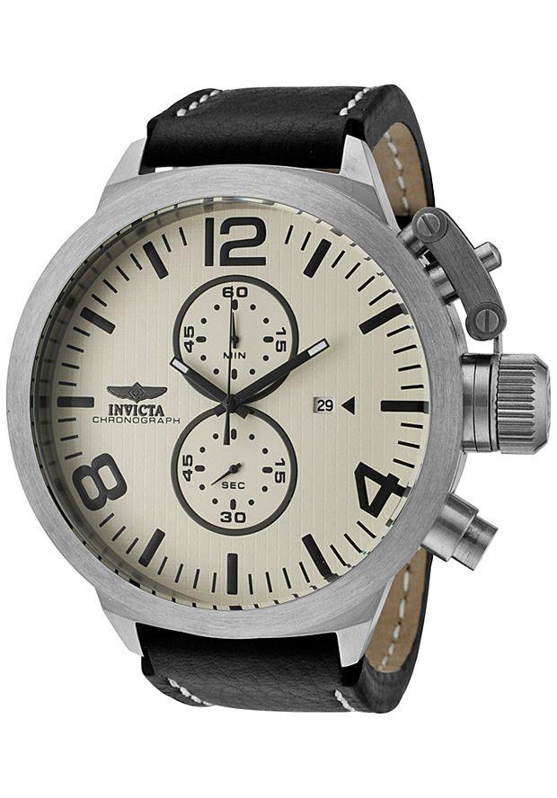 invicta watches s corduba chronograph ivory textured