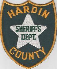 vintage Hardin County, Illinois Sheriffs Dept patch  IL