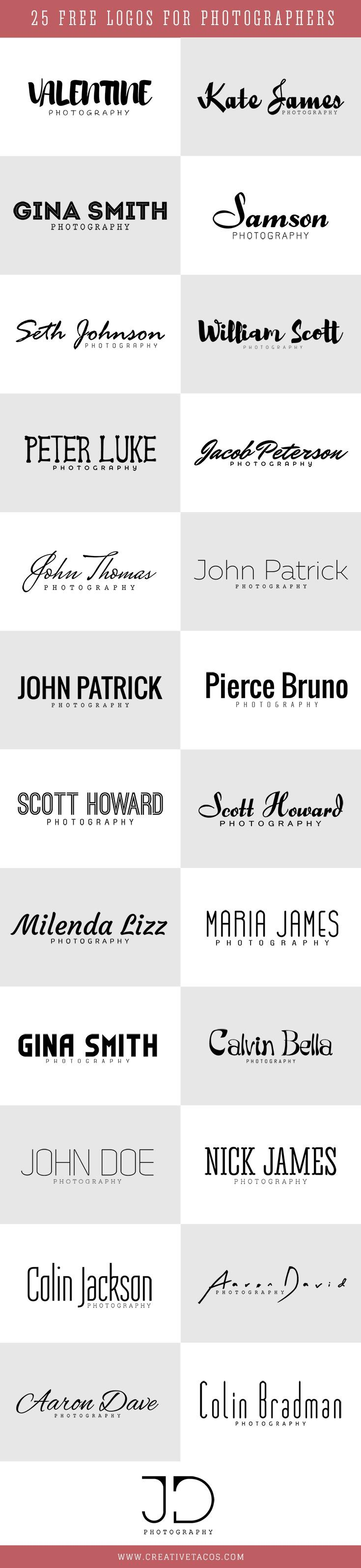 Showcase your #photography business using these free 25 #photography logo in your business and brand. via @creativetacos