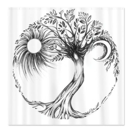 Tree of life with sun and moon. I like this