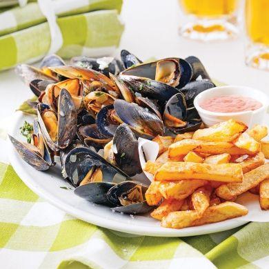 Moules-frites à la belge - Recettes - Cuisine et nutrition - Pratico Pratique
