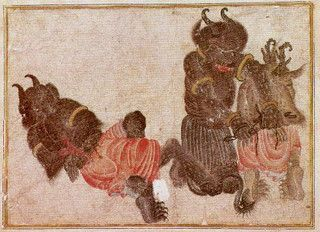 Two Seated Demons, siyah qalam | Flickr - Photo Sharing!