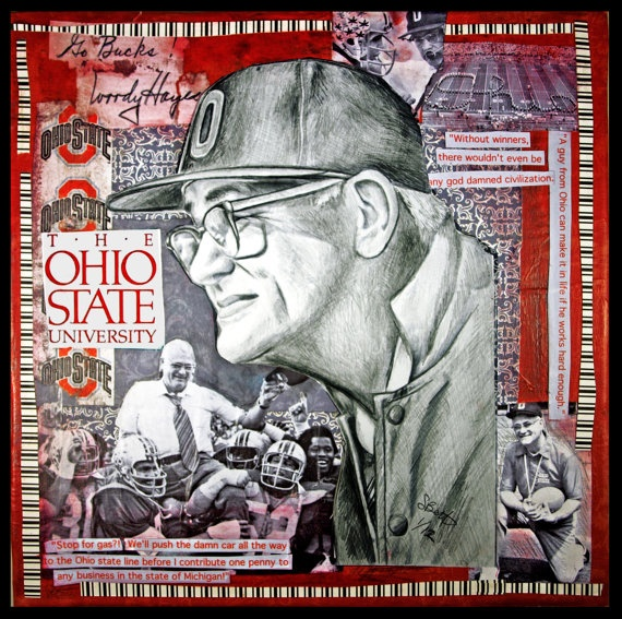 Woody Hayes Ohio State Buckeyes Original Drawing by paintersam, $325.00
