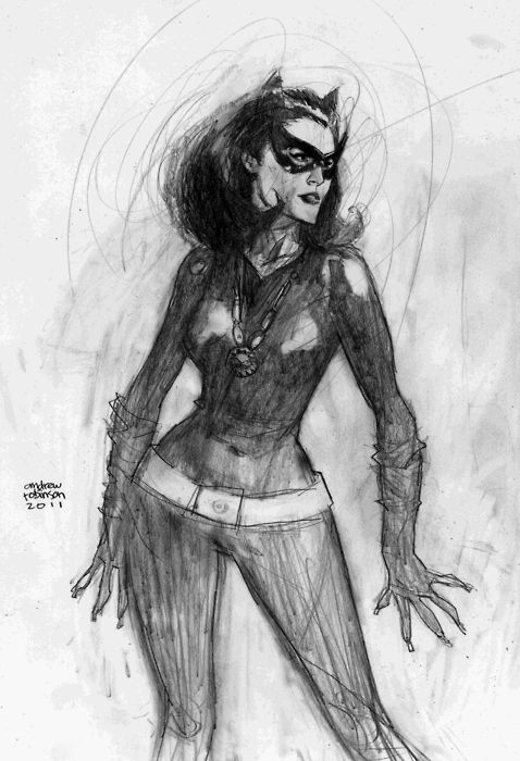Julie Newmar Catwoman by Andrew Robinson