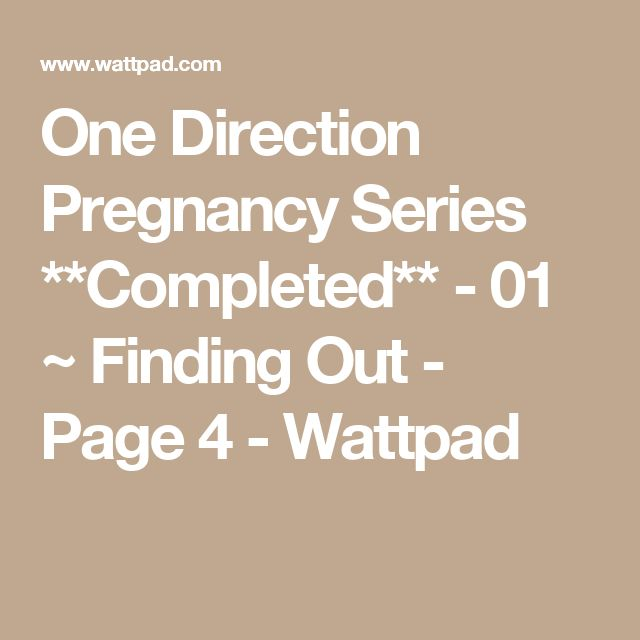 Pregnancy series one direction preferences