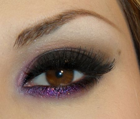 purple on lower lids.Eye Makeup, Brown Eye, Dramatic Eye, Rocks Stars, Beautiful, Makeup Ideas, Smokey Eye, Hair, Purple Eye