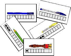 Hoeveel hokjes is het voorwerp lang, meten met kleuters / Jeux à imprimer et à fabriquer