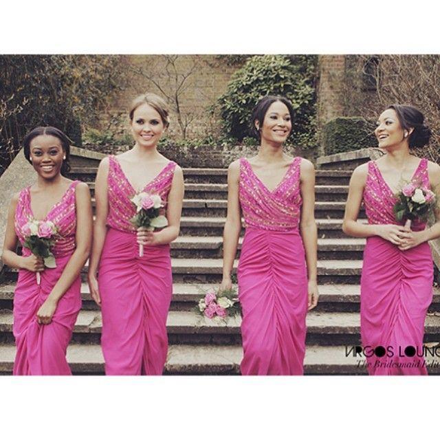 Nigerian Wedding: Beautiful & Classic Bridesmaids Dresses By Virgos Lounge