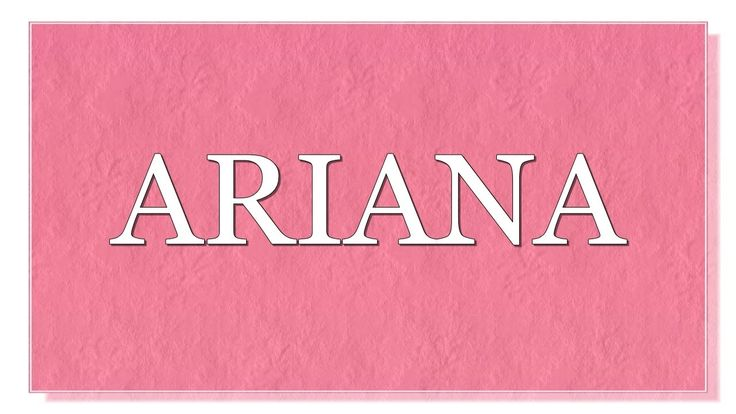 Meaning of the name Ariana. What is the meaning of the name Ariana?  Name Ariana originates from a Greek word, which means holy, or Graced with God's favor. It is also considered that this name originates from the Persian word Aryan, which means- From the land of Aryans. The famous bearer of this name is American singer and actress Ariana Grande -Butera. What are lucky days for Ariana? What are lucky colors for Ariana? What are lucky professions for Ariana? How special is Ariana? You will…