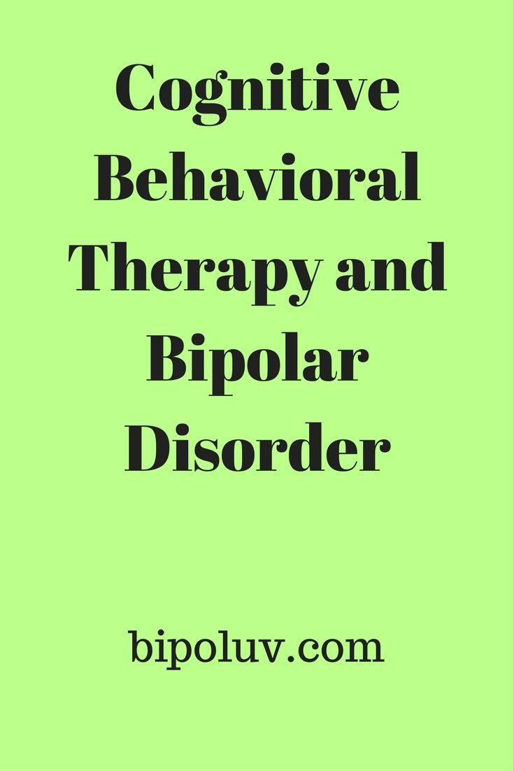 Cognitive Behavioral Therapy and Bipolar Disorder  #CBT #cognitive behavioral therapy #bipolar