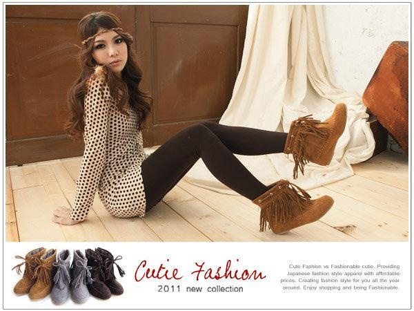 I usually HATE short boots but these are cute with this outfit:)