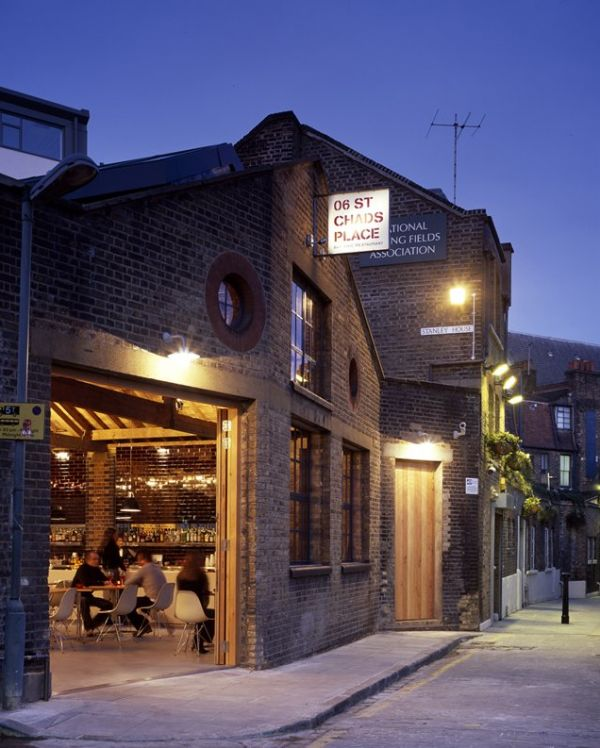 A Rustic & Industrial Bar and Restaurant in London called: 06 St Chads Place. Kings Cross. Lunch, tapas or drinks!