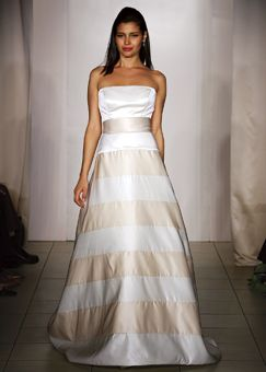 lazaro striped wedding dressesfree