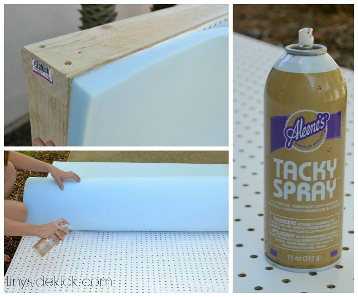 DIY Upholstered Headboard with a High End Look! She uses peg board...genius!