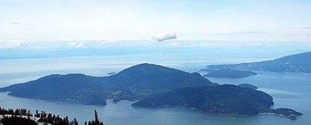View of Bowen from Cypress Mountain, West Vancouver