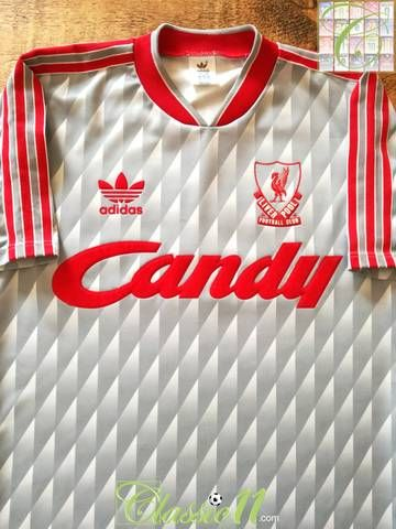 90ce488d8 Official Adidas Liverpool away football shirt from the 1989/90 season.