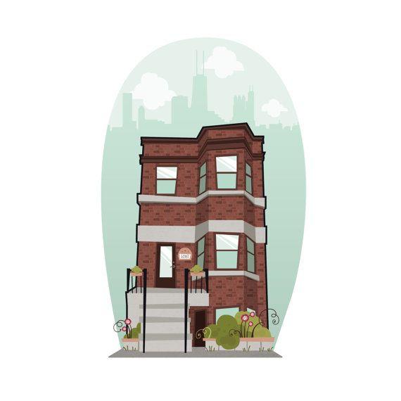 Custom House Portrait  Home Illustration  Custom Wedding Gift  New home   housewarming gift. 39 best house portraits images on Pinterest