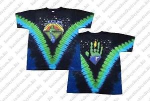 Jerry Garcia - Mountain Cat Tie Dye T-Shirt  A very cool t-shirt based on the Jerry Garcia Band, Cats Under The Stars design. This Jerry Garcia Tie Dye T-Shirt is a 2 sided design with his familiar hand print on the back. Officially licensed Jerry Garcia Band  merchandise. #sunshinedaydream #hippieshop