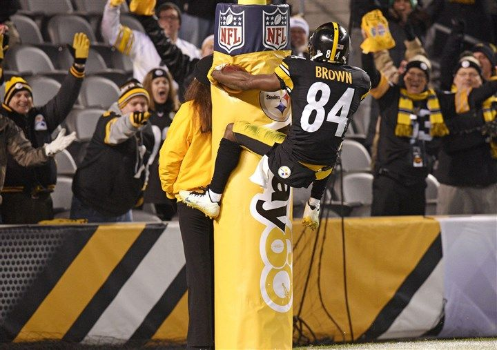 """Mike Tomlin has been nothing if not consistent when it comes to Antonio Brown's silly end-zone celebrations. A year ago, Tomlin said of a Brown somersault after his 71-yard punt return for a touchdown against Cincinnati, """"It's funny to me sometimes that people think I can stop a grown man from doing something like that. What do you want me to do? Not play him?"""" Earlier this season, after Brown did a full front flip after a 56-yard touchdown catch against Cleveland, Tomlin said, """"Awesome…"""