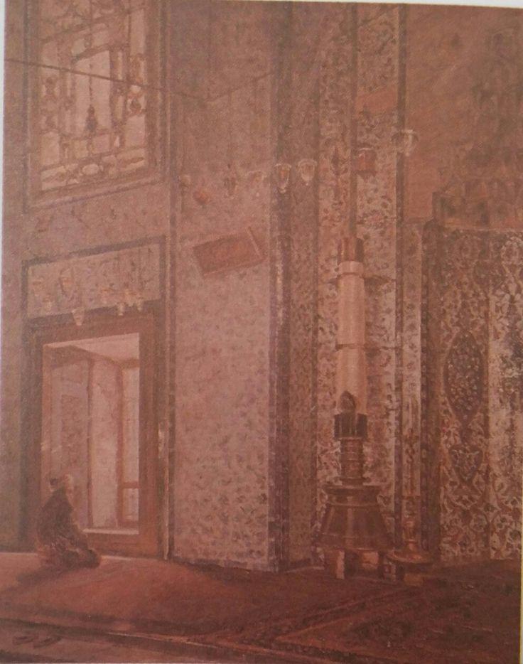 Şevket Dağ: Rüstem Paşa Camisi. Tuval uzerine yagliboya. 98×78 cm. Ozel koleksiyon