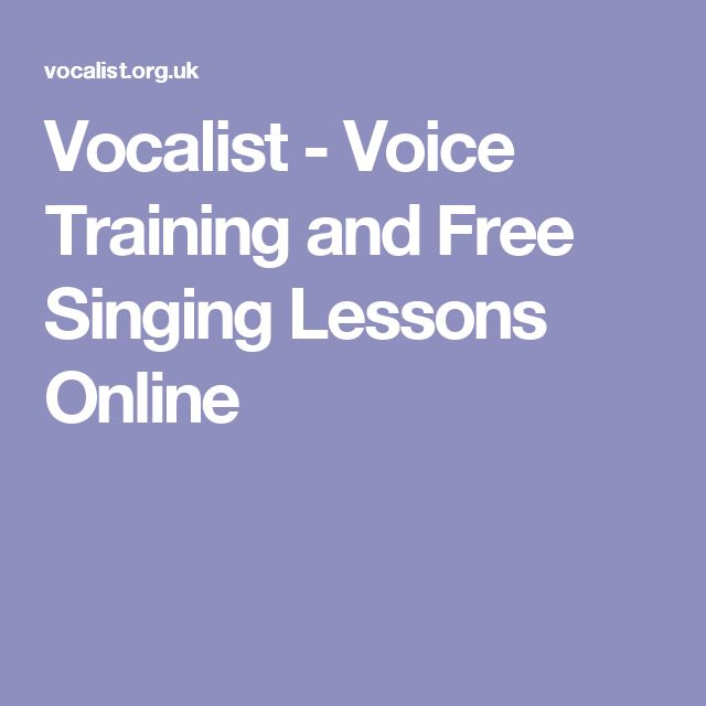 Vocalist - Voice Training and Free Singing Lessons Online                                                                                                                                                                                 More