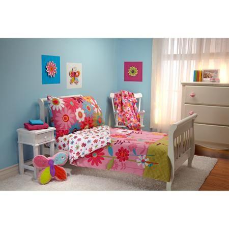 Garanimals Wild Flower 4-Piece Toddler Bedding Set