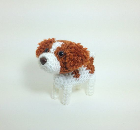 Brittany Pet Lover Gift Crochet Dog Ornament Stuffed by Inugurumi, $35.00
