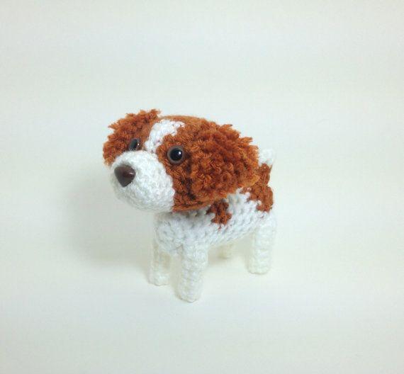 Brittany Pet Lover Gift Crochet Dog Ornament Stuffed by Inugurumi, $27.00