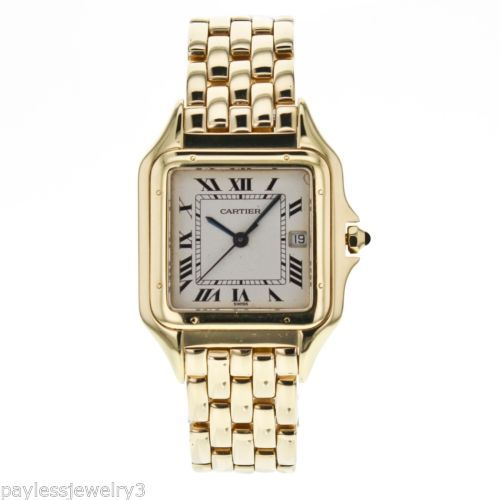 Cartier Panthere W25014B9 with Date 18k Solid Yellow Gold Watch for Women
