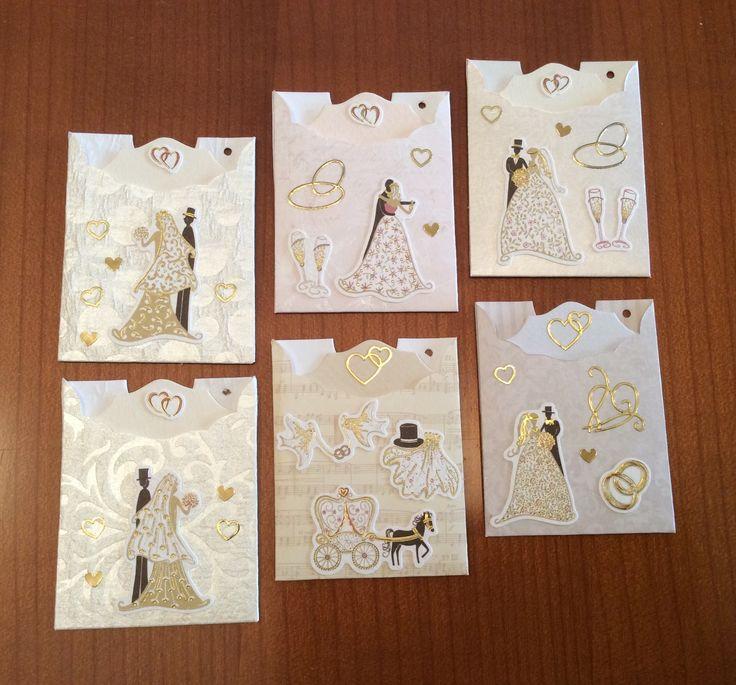 Ajándékkísérő kártya tokban Esküvői