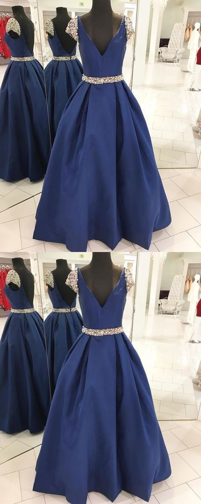 Navy Blue Prom Dress, Back To School Dresses, Prom Dresses For Teens, Pageant Dress, Graduation Party Dresses BPD0576