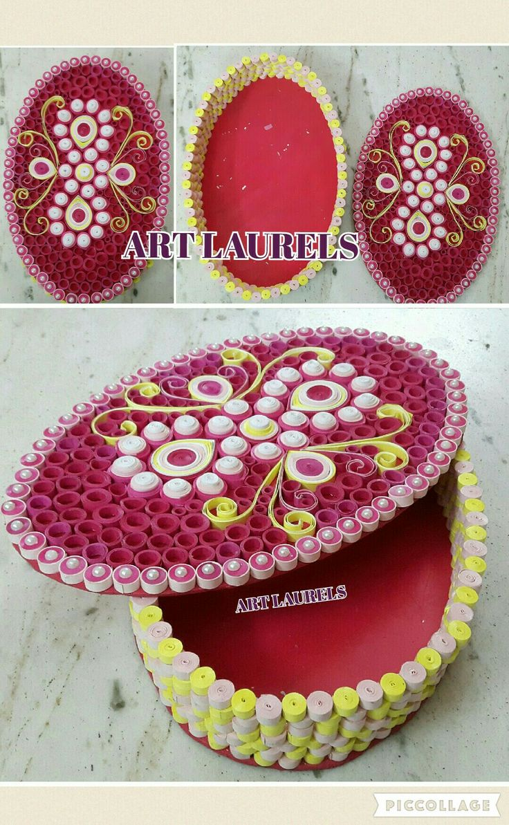 Neon theme 3d quilled box!