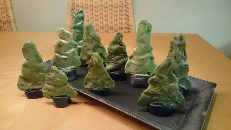 Jul, juletre, tre, diy, leire,  Christmas,  tree, clay