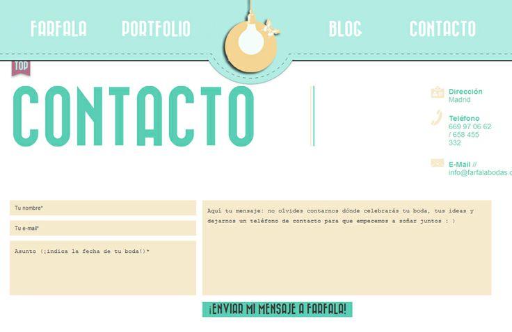 Contacto web Farfala