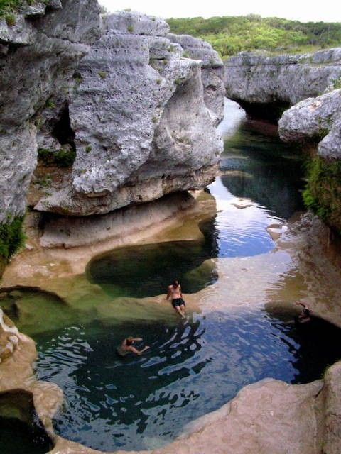 why have I not heard of this?? TEXAS! The Narrows. Upper south side of Lake Travis near the community of Spicewood. From Austin take Texas 71, turn north on Spur 191, and proceed approximately one mile to Spicewood. Continue traveling north 1.1 miles on Burnet County Road 410 to CR 411, which is a gravel road. Proceed approximately 1.5 miles north to the entrance for the Narrows Recreation Area.