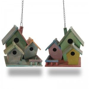 Set 2 Triple Bird Houses