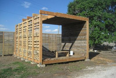DIY Pallet Furniture: Farm production center built of recycled wooden pallets