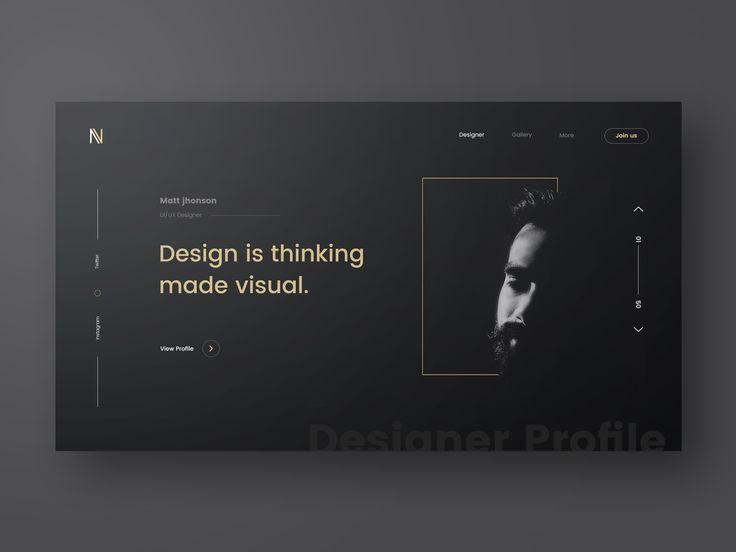 Designer profile full view