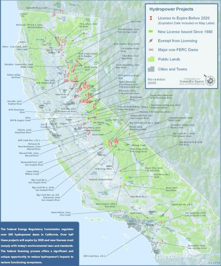 map of rivers and dams in california google search