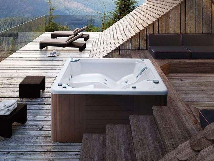 Mini piscinas y bañeras hidromasaje: fotos de los modelos - Piscina en el ático