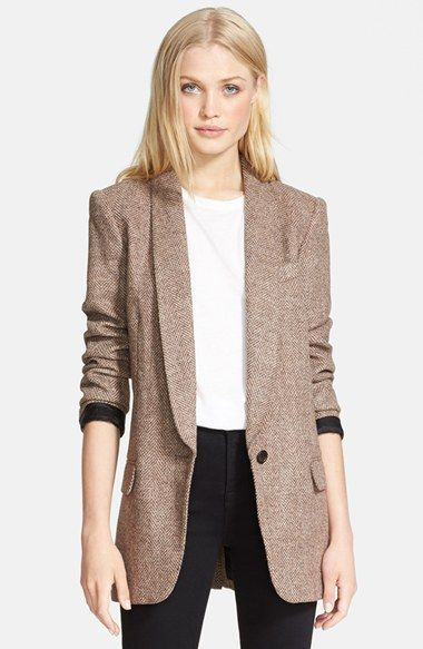I can't wait to wrap myself up in a blazer like this! | @nordstrom #nordstrom