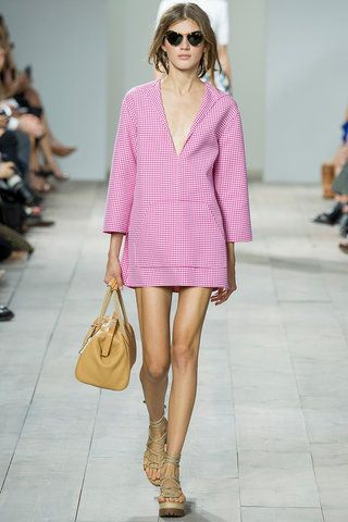 Top Trend for Spring 2015: Gingham. Referenced on both sides of the pond, the gridlock pattern has a history that includes American barn dance and French bombshell Brigitte Bardot, who famously wore the tablecloth fabric on her wedding day. This season gingham covered everything from baja minidresses to mink fur coats.