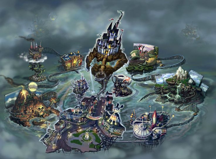"The Cartoon Wasteland (abbreviated as the Wasteland) is the world in which Epic Mickey takes place. It is home to forgotten characters such as Oswald the Lucky Rabbit, the Mad Doctor and the Shadow Blot. The locations in the Cartoon Wasteland are based on various retired or rejected theme park rides. Oswald the Lucky Rabbit was the ruler, however, the Shadow Blot usurped power from Oswald, and ruled as a tyrant with an iron fist. A long time ago, the sorcerer Yen Sid began to work on ""hi..."