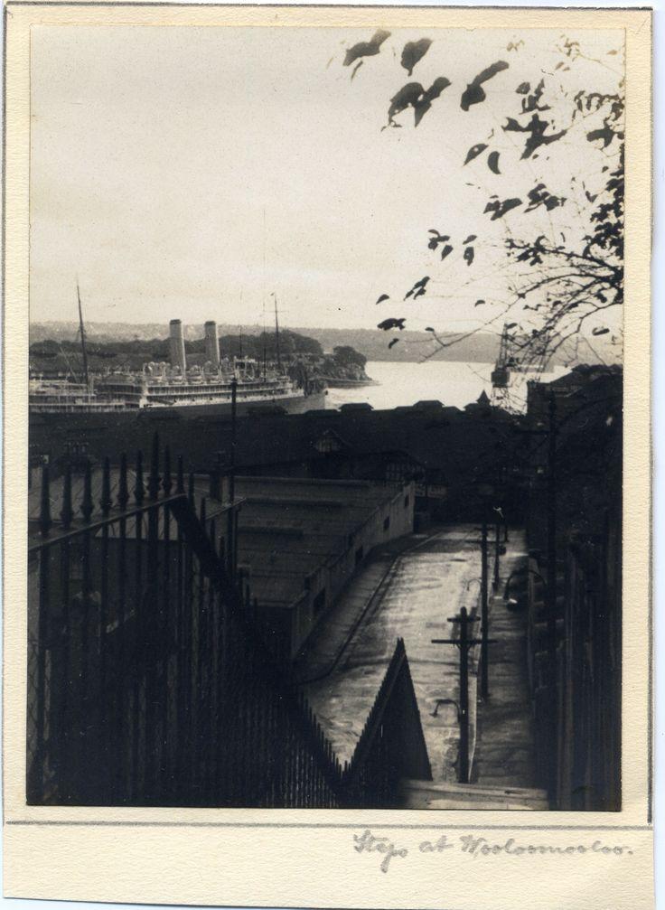 'Steps at Wooloomooloo' - RAHS/Osborne Collection