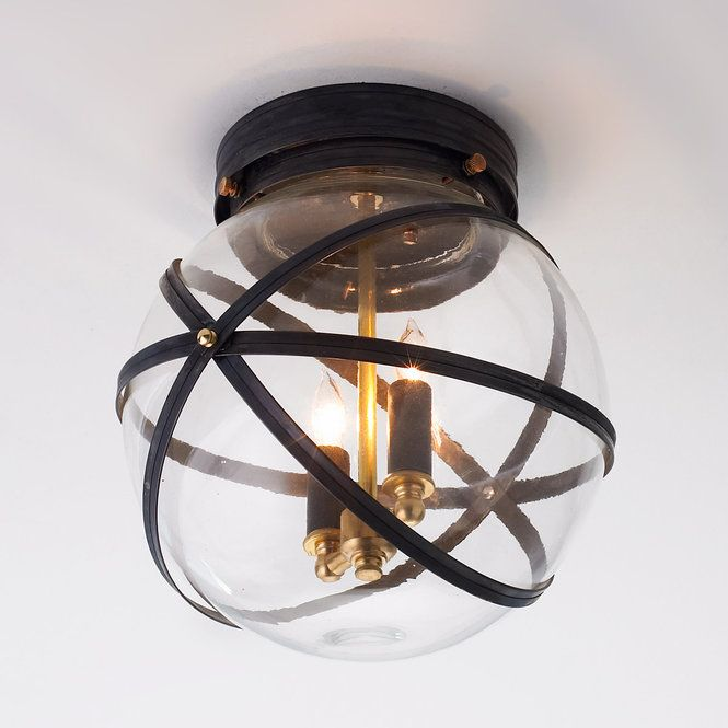 Steam Punk Indoor Outdoor Ceiling Light Bronze or Copper - Shades of Light
