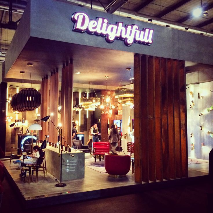 @delightfulll corner at #euroluce2015 Delightful is one of Atas Lighting partners and does great lighting products. #milano #milandesignweek #euroluce #lighting #lightingdesign #delightfull