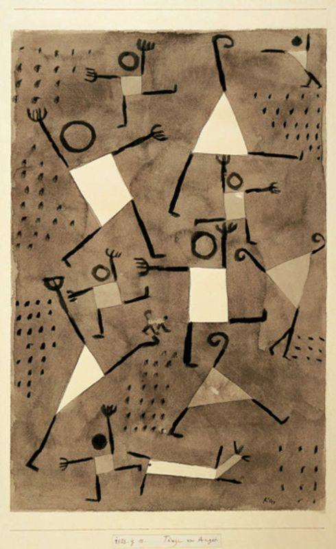École maternelle la Trébillane à Cabriès - Danses sous l'emprise de la peur Paul Klee