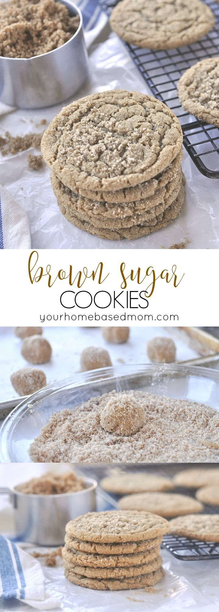 Brown Sugar Cookies are full of amazing flavor and have perfect texture. @yourhomebasedmom.com