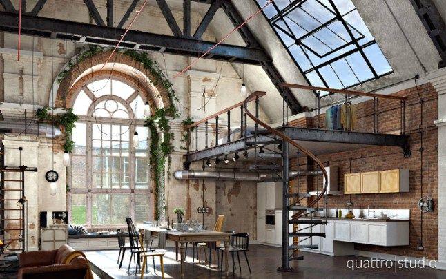 Un loft dans l'ancienne usine de coton