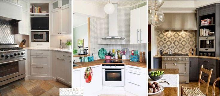 Плита, духовка, телевизор в углу кухни